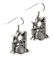 Drum Earrings - Wedding Accessories - Women's Jewelry - Handmade - Gift Box