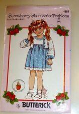 Butterick Pattern 4885 Girls Dress Strawberry Shortcake Fashions 5-6x Complete