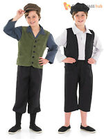 Boys Kids Victorian Gent Fancy Dress Peasant Urchin Costume Oliver Twist Outfit