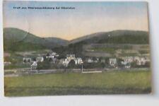 30042 AK Oberneuschönberg bei Olbernhau Straße mit Häusern 1936 coloriert