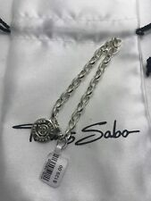 Thomas Sabo Sterling Silver   Charm Bracelet size small anniversary diamond
