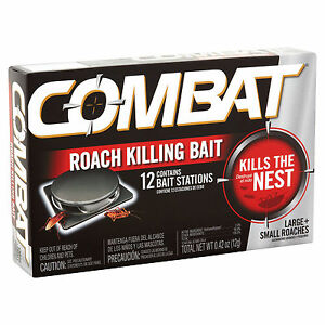 Combat MAX 12 ROACH KILLING BAIT STATION Kills The Nest LARGE & SMALL ROACHES HQ