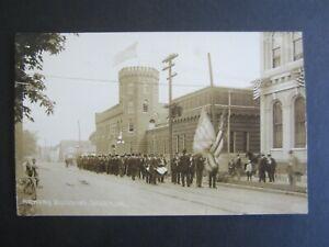 Old c.1910 - SALEM OREGON - Armory Building - Parade - RPPC Real Photo POSTCARD