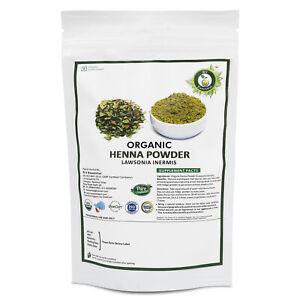 R V Essential Organic Henna Powder 200gm Lawsonia Inermis USDA Certified Natural