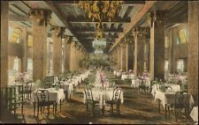 Hollywood Beach hotel & Golf Club FL - Dining Room Hand Colored Postcard
