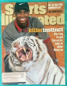 "1998 Tiger Woods Sports Illustrated - Masters Golf  ""Killer Instinct""  04/13/98"