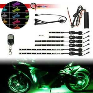 RGB 15-Colors LED Motorcycles Under Glow Lights Strips For Aeon ATK Ariel, etc