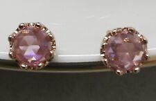 Pandora 288311C01 Pink Sparkling Crown Stud Earrings S925 ALE
