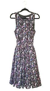 ISAAC MIZRAHI fabulous full loose wide skirt dress size 12 NEW has pockets!