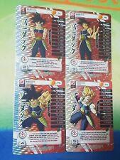 Dragon Ball Z DBZ CCG Tcg Panini Custom Proxy Foil Bardock MP set 1-4 Legends