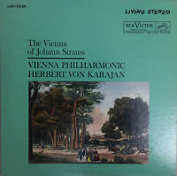 RCA LIVING STEREO LSC-2538 *SHADED DOG* VIENNA OF JOHANN STRAUSS KARAJAN EX+/NM