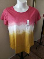 Women's NWT SONOMA Goods For Life Size XL Tie-Dye Crew Neck Top