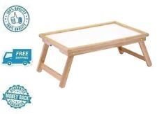 New Wood Foldable Breakfast Table & Serving Tray Dinner Server Carrier Stand