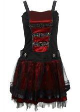 Restless n Wild Dark Desire Dress Red & Black Victorian Gothic / XLarge - 2548/r