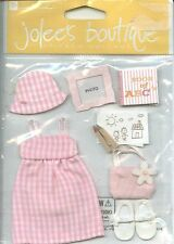 Toddler Girl Child Sundress Crayons ABC Play Jolee's Stickers Scrapbook Crafts