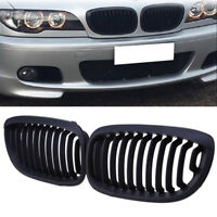 MATTE BLACK SPORT FRONT KIDNEY GRILLE GRILL For 3 Series E46 Coupe 2003-2005