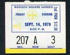 1979 The Who Concert Ticket Stub Madison Square Garden NY Who Are You Tour 9/14