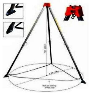 Height Safety Auminium Tripod Fall Arrest Belts/ Harnesses/ Lanyards