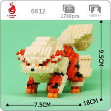CHAKRA Pokemon Arcanine Dog Pocket Monster DIY Mini Diamond Blocks Building Toy