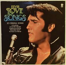 Elvis Presley Love Songs LP Vinyl 1980 K-Tel NC-524