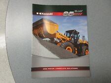 Kawasaki 85 Z7 Wheel Loader Literature 16 Pages