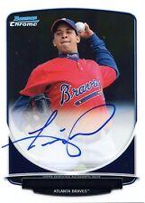 2013 Bowman Chrome Luis Merejo On Card Autographed Prospects BCA-LME Braves