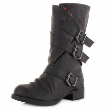 Blowfish Buckle Mid-Calf Boots for Women