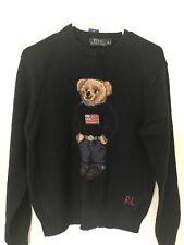 6d3097dcc POLO RALPH LAUREN Mens USA Flag Bear Knit Sweater Navy Blue sz M BNWT palace