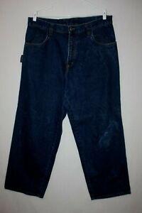 Vtg Interstate Dark Wash Baggy Jeans Size 36 (meas 38x31)