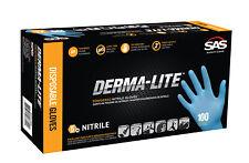 Sas Safety 6608 Derma Lite Lightly Powdered Nitrile Gloves Large 100 Qty