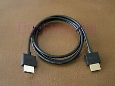 3FT Ultra Thin Slim HDMI 1.4 HD 3D High Speed Ethernet Gold Shielded 36AWG Cable