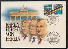 C 24 ) Germany Fantastic Cover Honorary citizen of Berlin Gorbachev Kohl Reagan