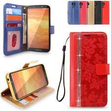 For Motorola Moto E5 Play Leather Wallet Case Card Slot Flip Folding Stand Cover