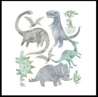 DIY Wall Stickers Nursery Kids Room Removable Mural Decal Decor Dinosaurs Uk