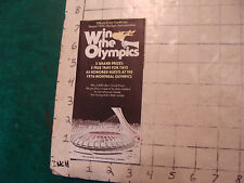 HIGH GRADE vintage paper: 1976 win the OLYMPICS Sweepstakes brochure