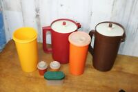Vintage Tupperware lot of 7 Pitchers Salt and Pepper Shakers