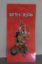 BETTY BOOP BIKER CHICK  KEYCHAIN  NEW ON MOTORCYCLE FISHNET HOSE SEXY 3 INCH
