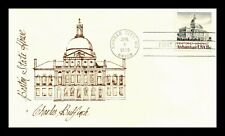 DR JIM STAMPS US BULFINCH ARCHITECTURE BOSTON STATE HOUSE FDC COVER UNSEALED