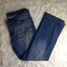 """7 For All Mankind 74AM Women Light Distressed Jeans Pants """"Bootcut"""" Style Sz 38"""