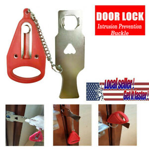 Portable Travel Door Lock Room Hotel Security Safety Intrusion Prevention Buckle