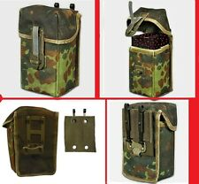 German Double Mag Pouch Fleck Camo Holds Two 20 Round 308 Mags + Belt Adapter