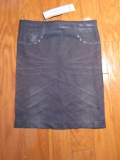 Navy Nylon Spandex Skirt w/painted On pockets. Junior Size Small.