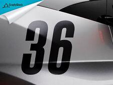"Racing Number 2pcs BLACK 6"" Custom Car Decal Window Decal Sticker Vinyl  Decals"