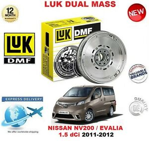 FOR NISSAN NV200 EVALIA 1.5 dCi 2011-2012 ORIGINAL LUK DMF DUAL MASS FLYWHEEL