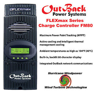 Outback Power FM80 FlexMax 80 MPPT 80 Amp Solar Charge Controller