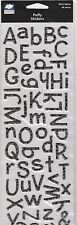 SCRAPBOOK  ALPHA STICKERS  PUFFY  /  BLACK  BY CLOUD 9 DESIGN