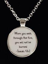 Necklace Isaiah 43:2 When You Walk Through The Fire Firefighter Christian Prayer