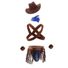 Sexy Men's Cowboy Uniform Cosplay Underwear Costume Fancy Two Piece Outfit