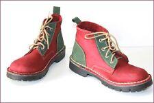 BROOKLYN Boots Cuir Bicolore Vert et Rouge Foncé T 38 BE