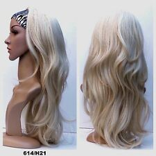 "25"" Long Natural Layered Wave, Half Head Wig 3/4 Weave Fall (G2)"